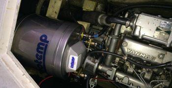 Yanmar motor en Boiler